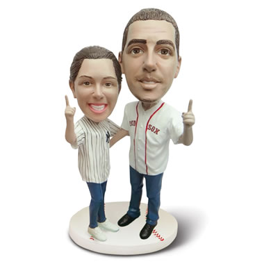 The Personalized Sports Caricature Double Bobblehead