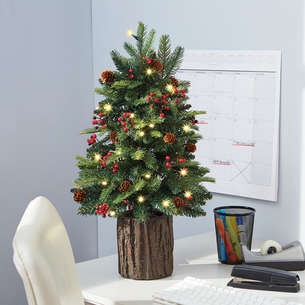 The Tabletop Prelit Christmas Tree - Hammacher Schlemmer