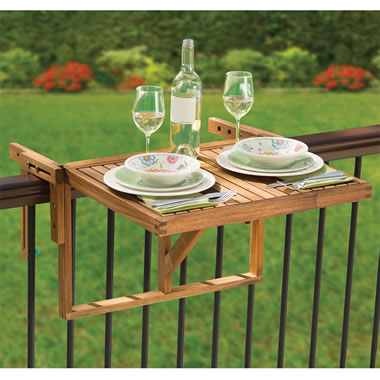 The Instant Wooden Deck Table