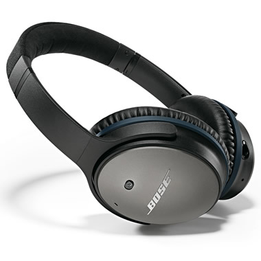 The Bose Quiet Comfort 25 Acoustic Noise Cancelling Headphones.