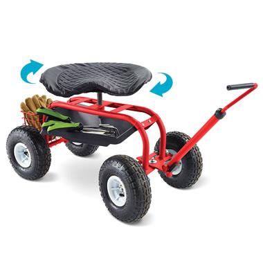 The Swiveling Seat Utility Cart