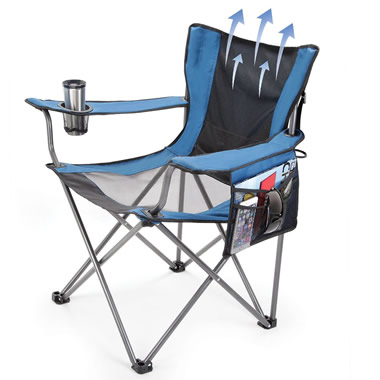 The Fan Cooled Portable Lawn Chair.