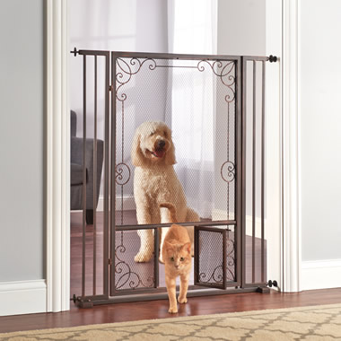 The Expandable Tension Mount Mesh Pet Gate.