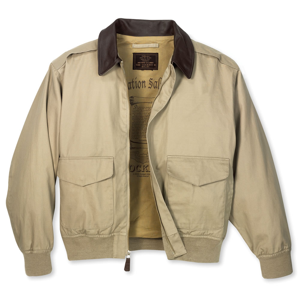 The Classic Cotton A-2 Bomber Jacket - Hammacher Schlemmer