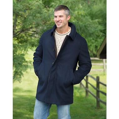 Traditional Austrian Loden Coat Navy 38