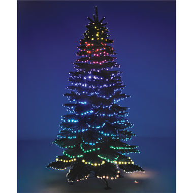 The Cascading Color Light Show Tree.