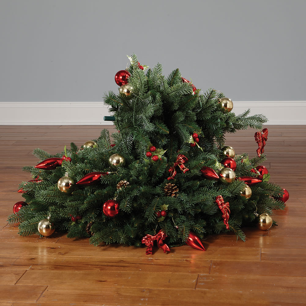The Instant Fully Decorated Christmas Tree Hammacher Schlemmer - Pull Up Christmas Trees