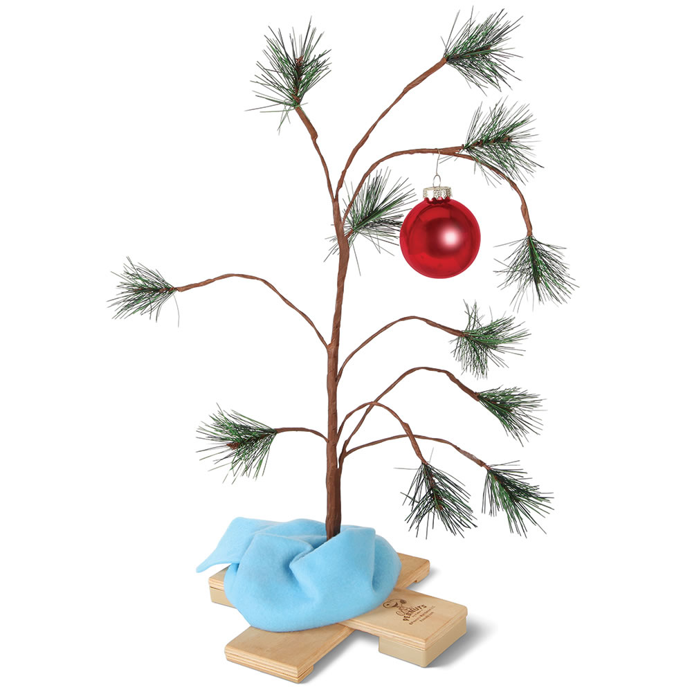 the charlie brown musical christmas tree hammacher schlemmer - Charlie Brown Christmas Decorating Ideas