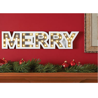 The Lighted Holiday Marquee (Merry)