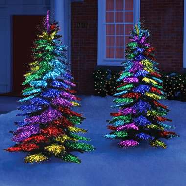 The Thousand Points of Light Tree - Multi colors illuminated in swirl pattern