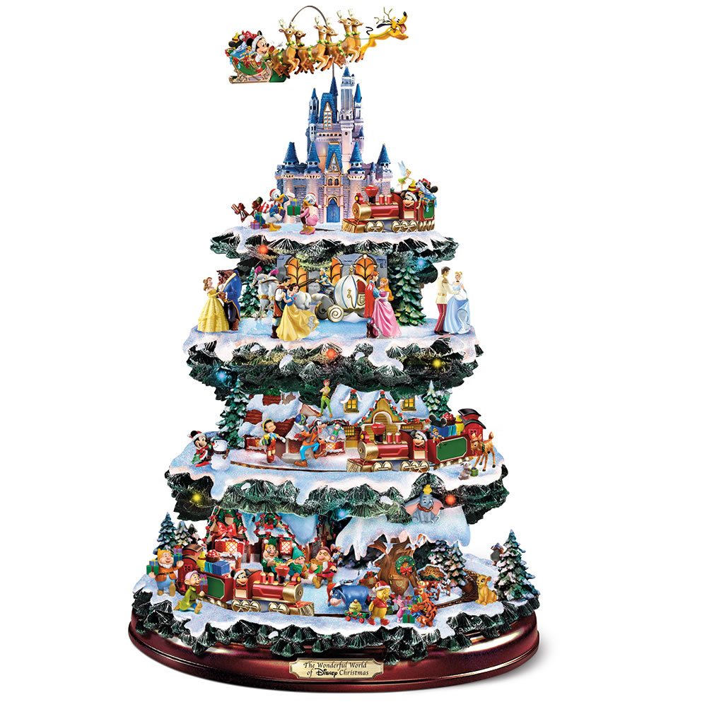 the disney christmas carousel tree - Musical Animated Christmas Decorations