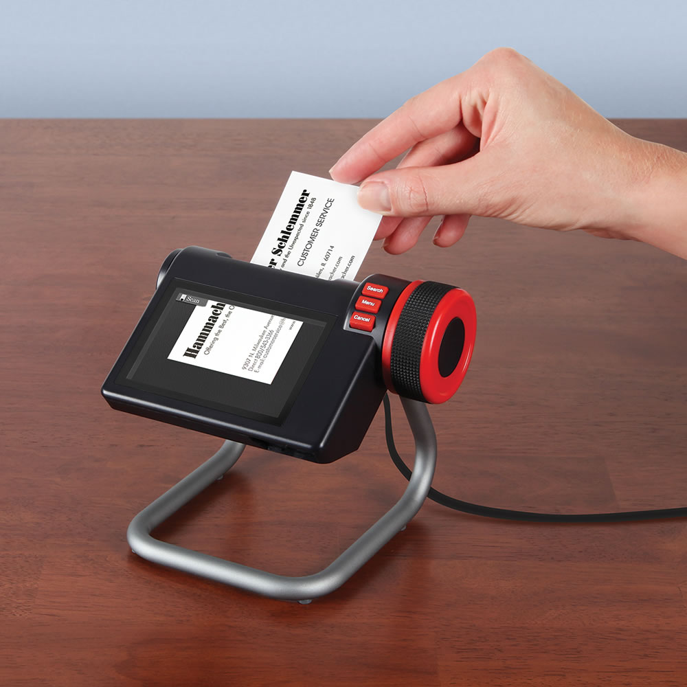 The Digital Business Card Organizer - Hammacher Schlemmer