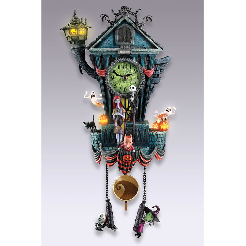 The Nightmare Before Christmas Cuckoo Clock Hammacher