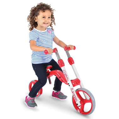 The Convertible Balance Bike To Scooter.