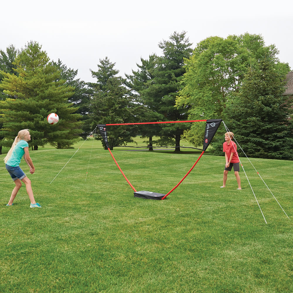 the instant family volleyball set - hammacher schlemmer