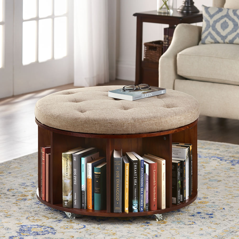 Rolling Ottoman Coffee Table.The Bookcase Ottoman