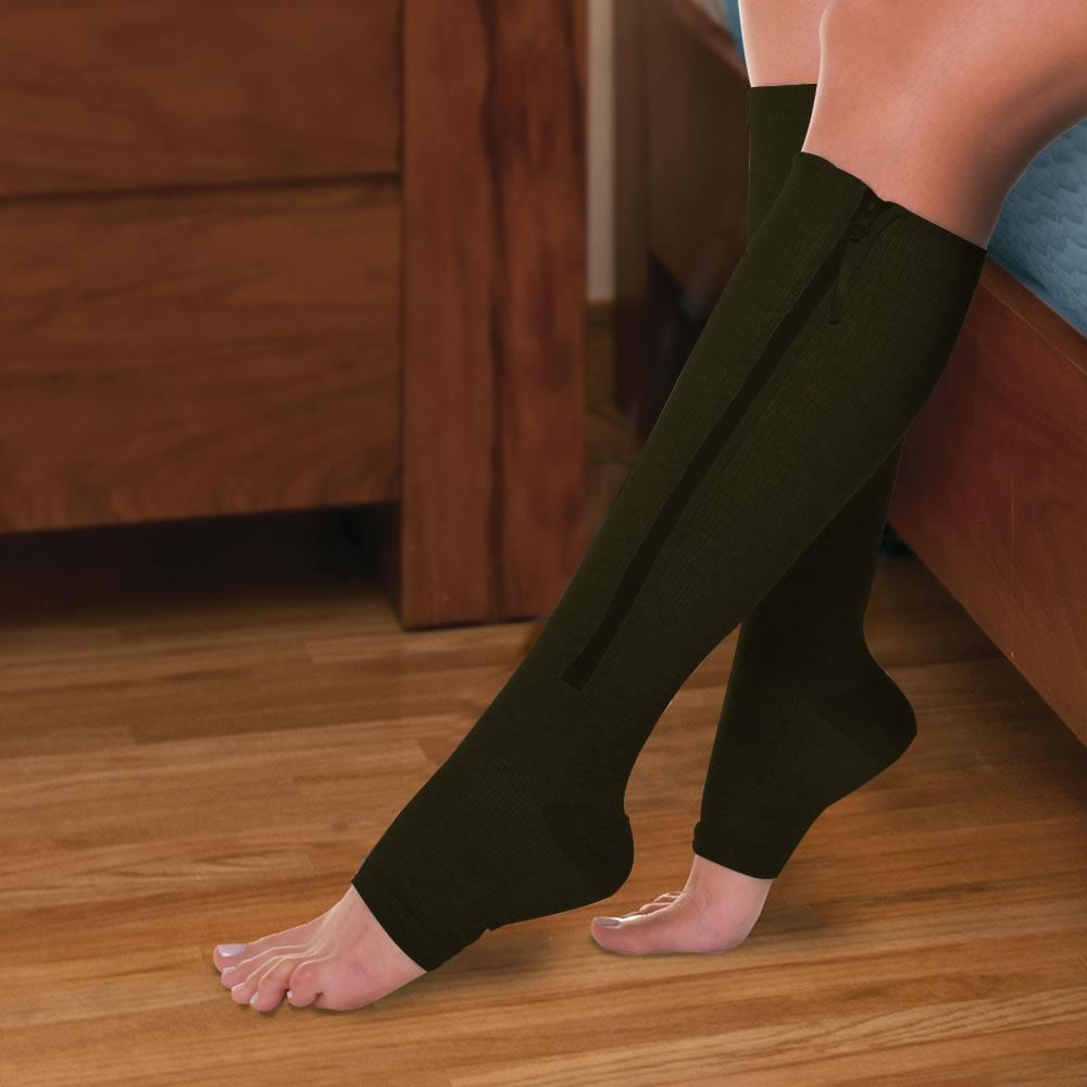 9ab5f7f8f18e88 Easy On Compression Socks - Hammacher Schlemmer