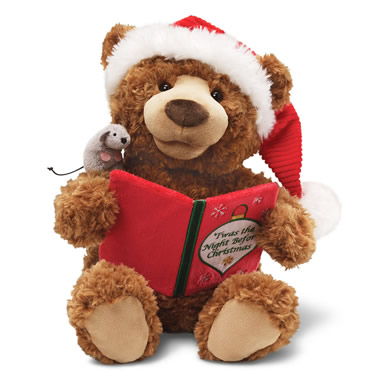 The Night Before Christmas Reciting Plush Bear
