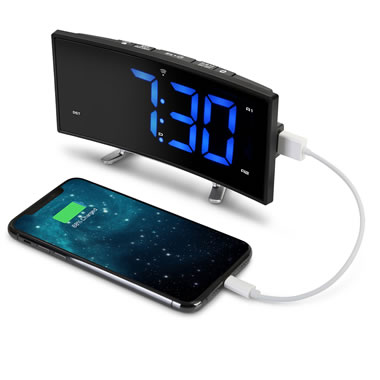 The Easy Read Curved Atomic Alarm Clock