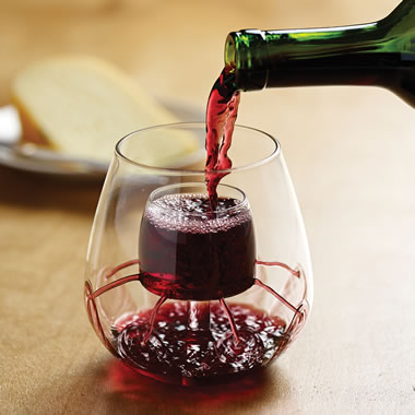 Only Stemless Self Aerating Wine Glasses