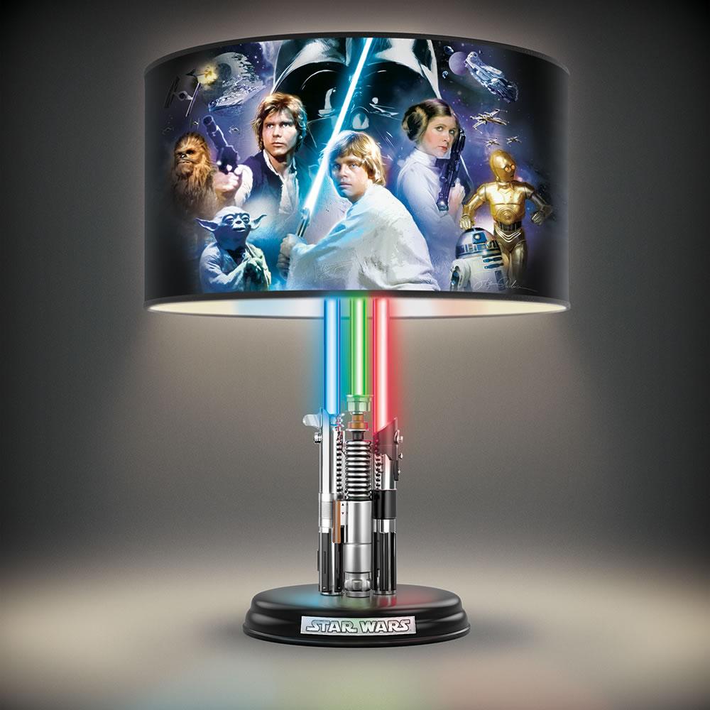 The Star Wars Lightsaber Legacy Lamp Hammacher Schlemmer