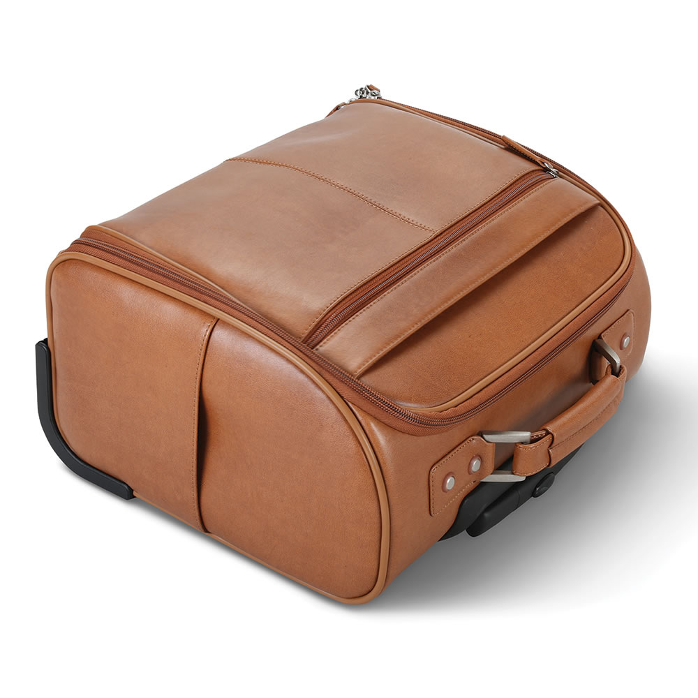 The Rolling Widemouth Leather Underseat Carry On