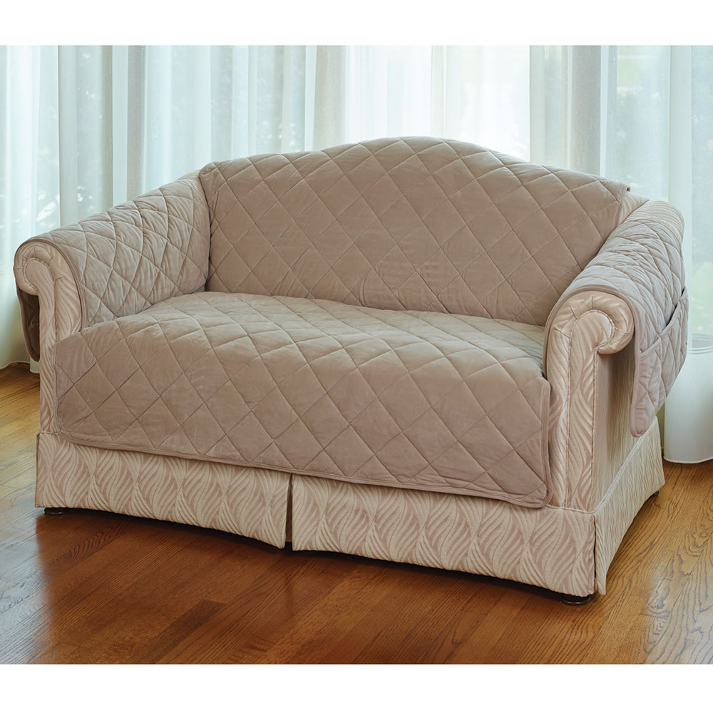 Pet covers for sofas and loveseats ultimate pet furniture for Furniture covers with straps