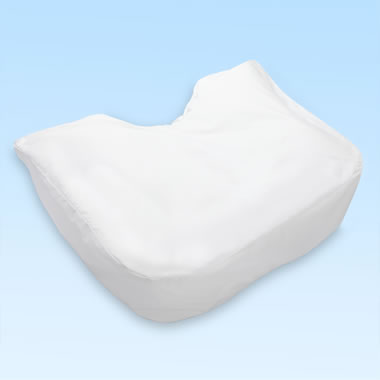 Fitted Cotton/Poly Pillow Cover For The Side Sleeper's Ergonomic Pillow