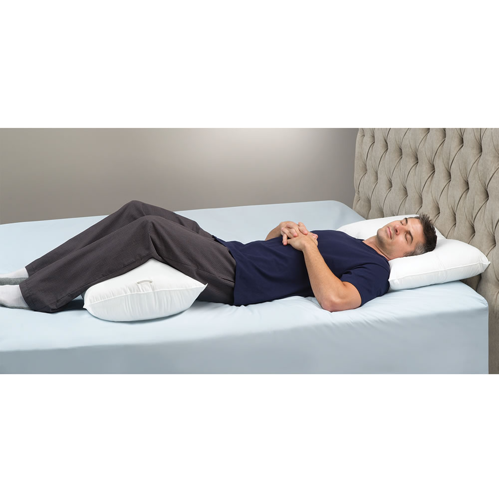 The Lower Back Pain Relieving Pillow System - Hammacher Schlemmer