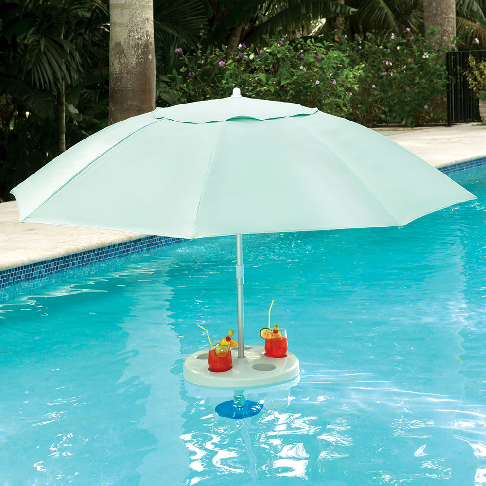 The In Pool Umbrella - Hammacher Schlemmer