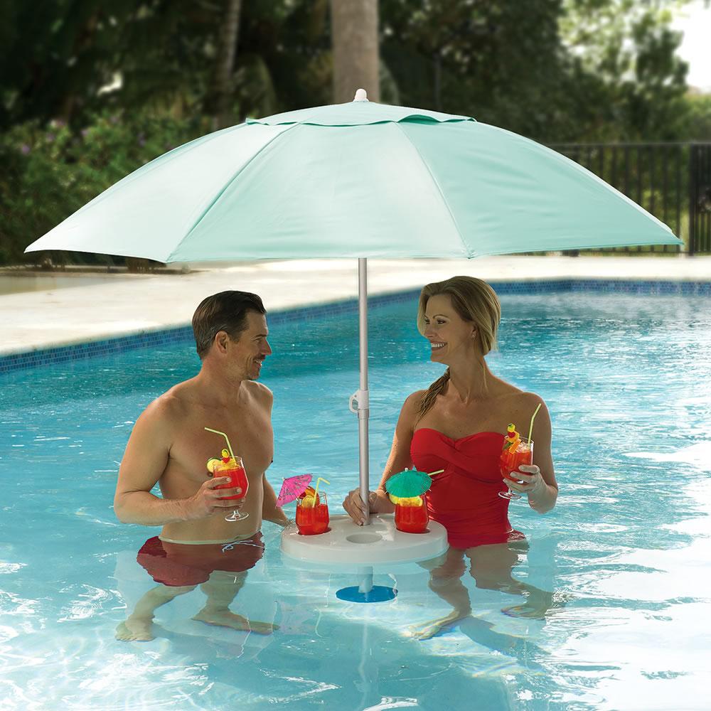 The In Pool Umbrella - Hammacher Schlemmer