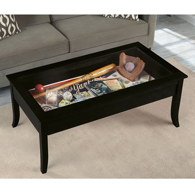 Collectors Display Coffee Table Black