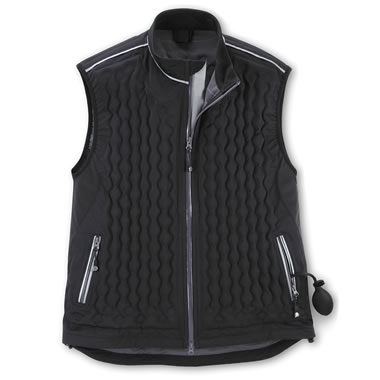 Adj Insulation Weatherproof Vest Blk Lrg
