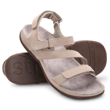 Tri Justable Womens Pf Sandal Tan 10