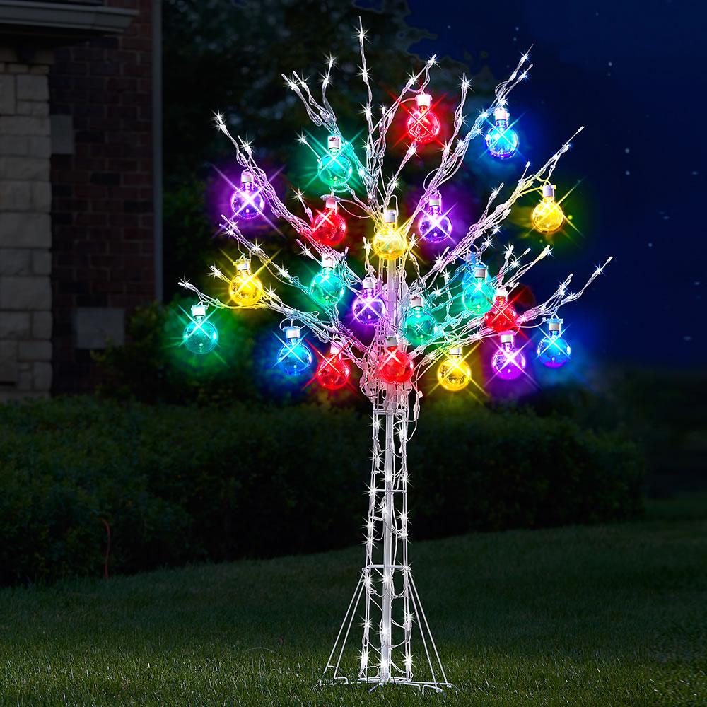 b9998d92298 The 6  Ultrabright Ornament Tree - Hammacher Schlemmer