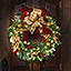 The Cordless Prelit Regal Ribbon Wreath - Illuminates front entry
