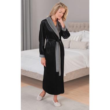 The Lady's Reversible Soft Velvet Robe