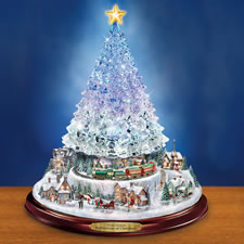 The Thomas Kinkade Color Changing Crystal Tree