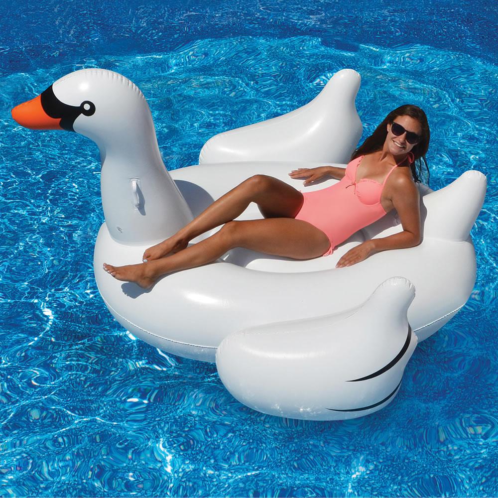 The Hamptons Giant Swan Float Hammacher Schlemmer