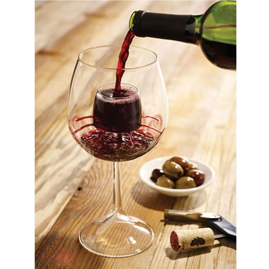 Only Stemmed Self Aerating Wine Glasses