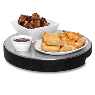 The Cordless Lazy Susan Warming Plate