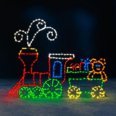 The 6' Animated Holiday Locomotive