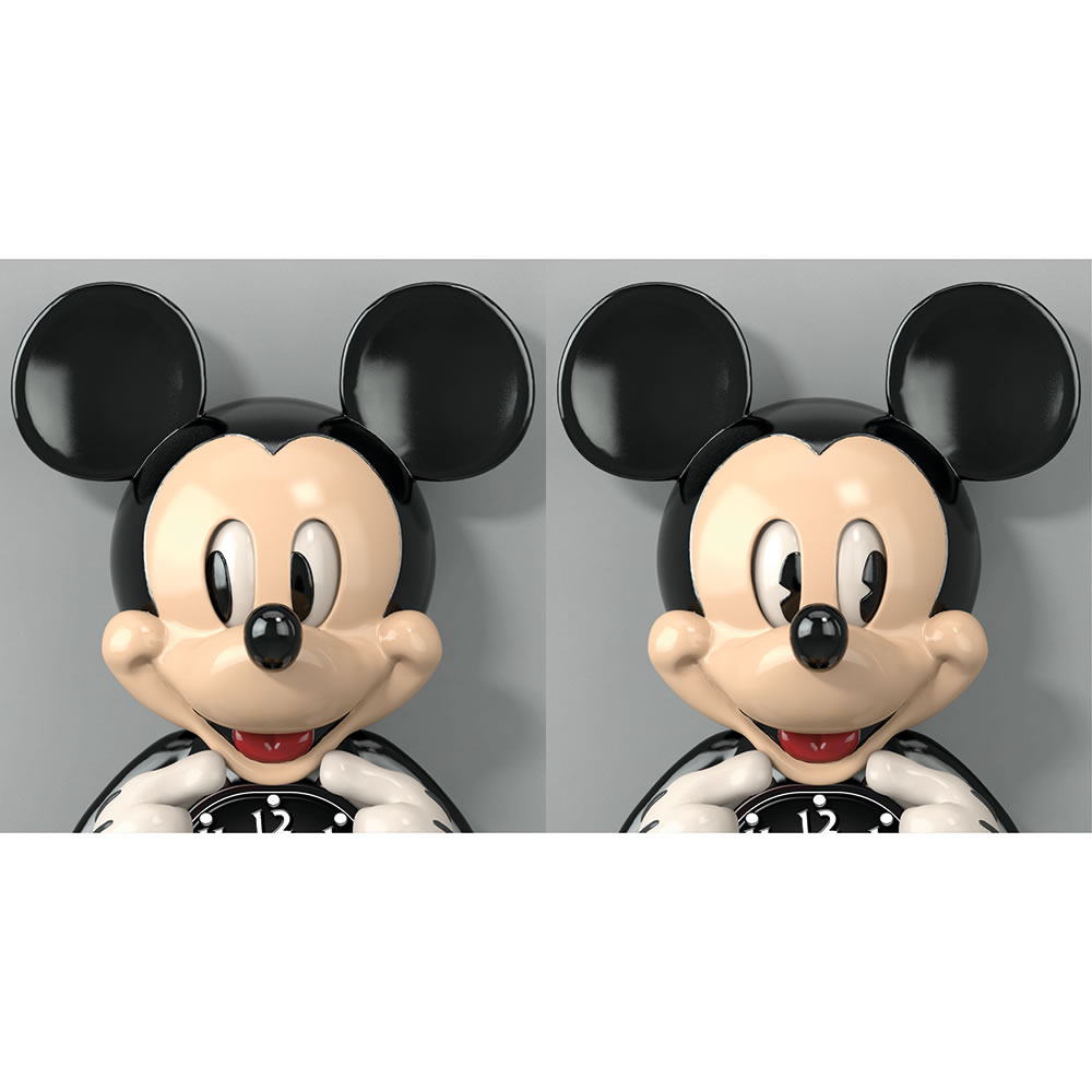 the animated mickey mouse wall clock hammacher schlemmer