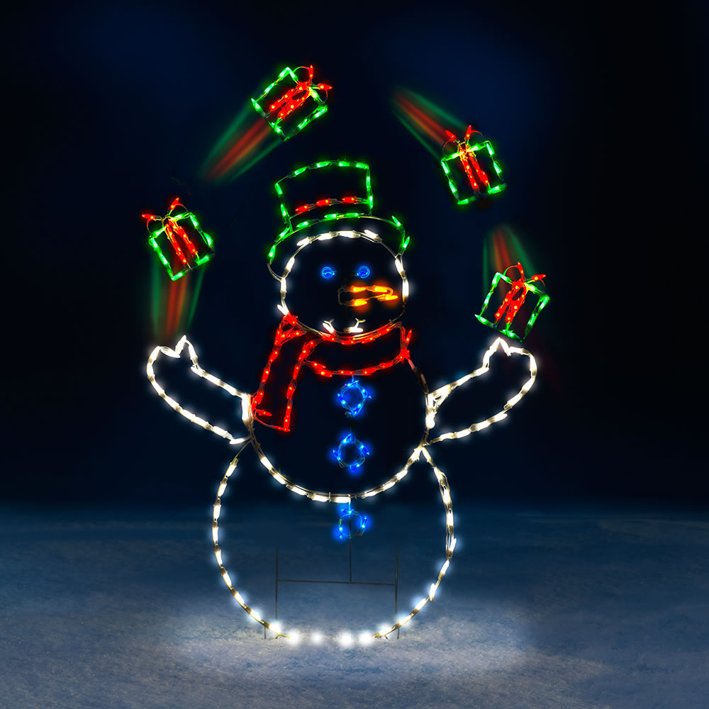 The 5 animated juggling snowman hammacher schlemmer the 5 animated juggling snowman mozeypictures Choice Image