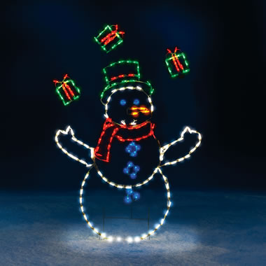 The 5' Animated Juggling Snowman