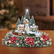 The Thomas Kinkade Illuminated Animated Centerpiece