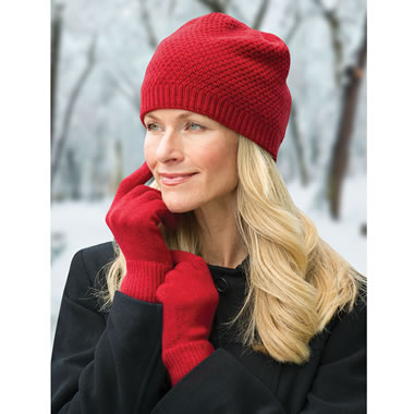 The Washable Cashmere Hat And Gloves