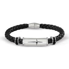 The Son and Grandson's Protection and Strength Leather Bracelet