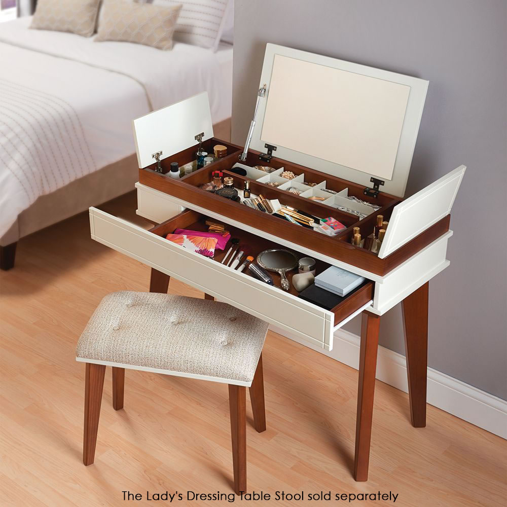 The ladys organized dressing table hammacher schlemmer the ladys organized dressing table geotapseo Images