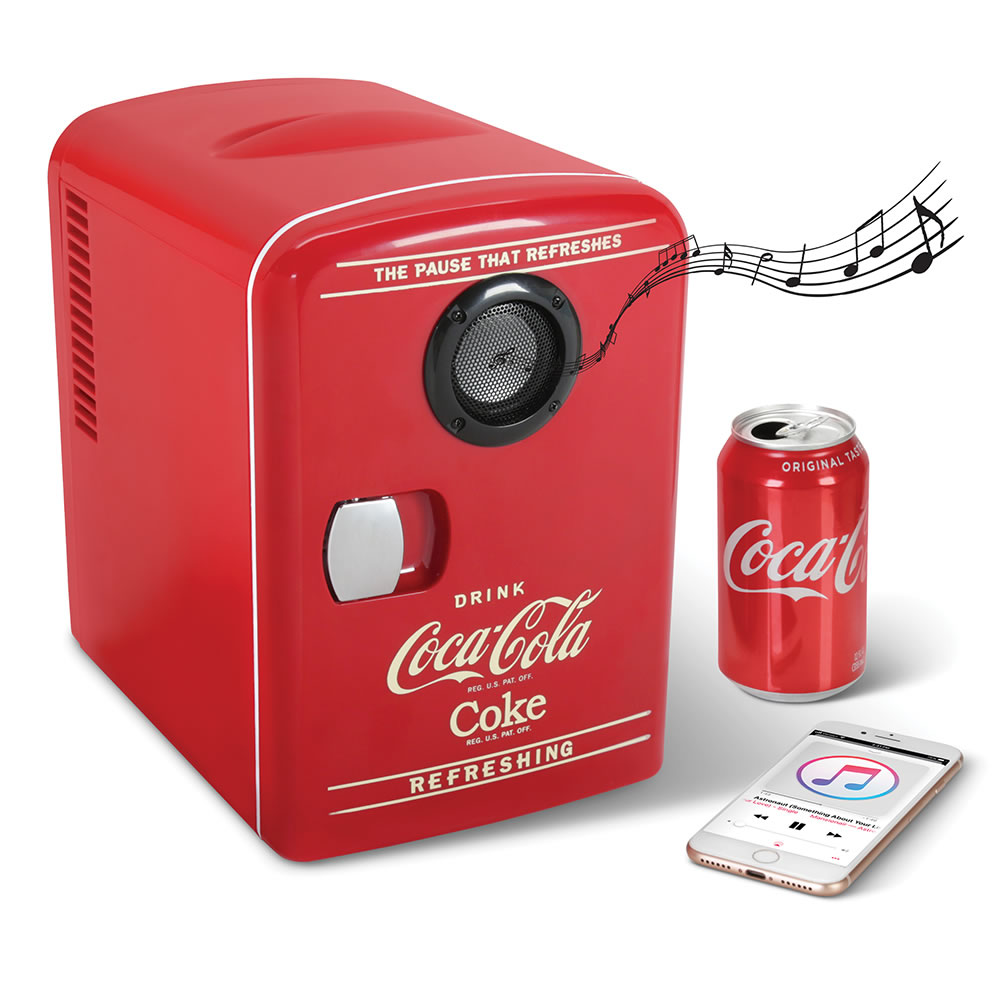 The Bluetooth Speaker Coca Cola Refrigerator Hammacher